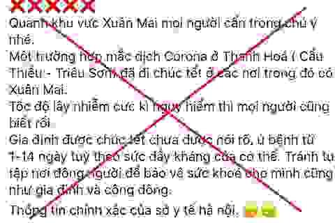 Tung tin sai về dịch corona, nam thanh niên Hà Nội bị phạt 10 triệu đồng