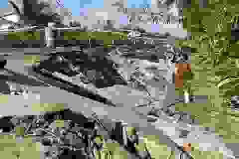 Cà Mau: Đường trăm tỷ tiếp tục sụt lún nghiêm trọng