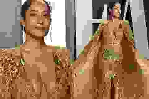 Nữ diễn viên U50 Tracee Ellis Ross diện váy gợi cảm dự tiệc Oscar