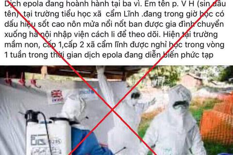 """Hà Nội: Tự nghĩ ra dịch epola, tung tin lên Facebook để """"câu like"""""""
