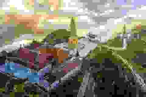 Lễ Phật cầu an, thưởng lãm bức tranh xuân tuyệt đẹp trên đỉnh Fansipan