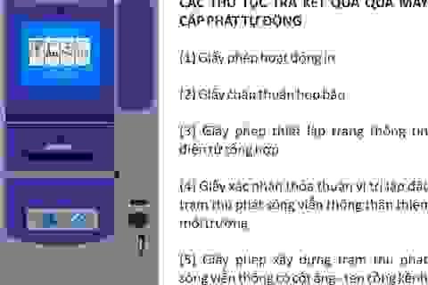 Đà Nẵng triển khai thí điểm sử dụng máy cấp phát giấy tờ tự động