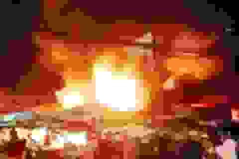 Cháy chợ ở Kiên Giang, 6 ki ốt bị thiêu rụi