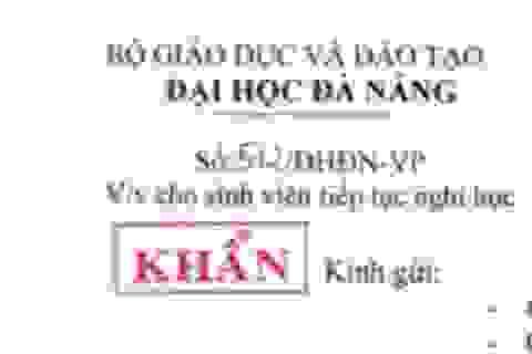 ĐH Đà Nẵng thông báo khẩn cho SV nghỉ học tiếp đến hết ngày 23/2