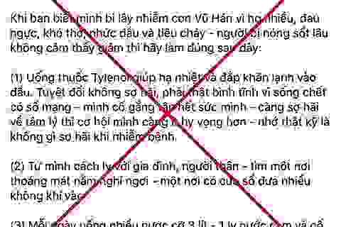 """Người phụ nữ Hà Nội bị phạt vì """"dạy"""" sai cách chữa virus corona"""