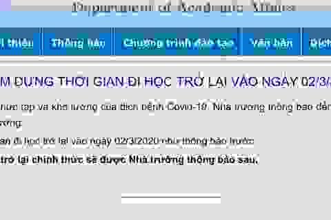 Dịch Covid-19 phức tạp, nhiều ĐH tại TPHCM ngừng kế hoạch đi học tuần sau