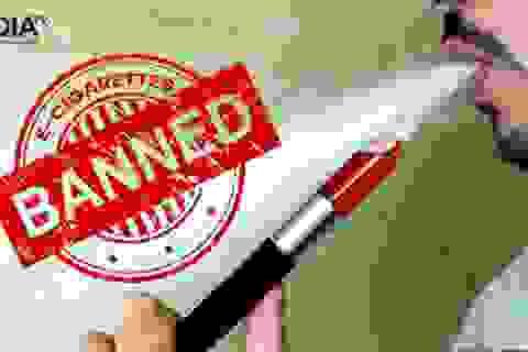Nhiều chất độc, chất gây ung thư có trong thuốc lá điện tử