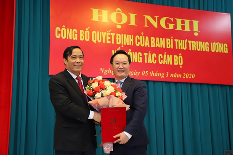 Thứ trưởng Bộ Kế hoạch và Đầu tư làm Phó Bí thư Tỉnh uỷ Nghệ An