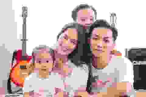 Khoảnh khắc ấm lòng của gia đình Khánh Thi giữa dịch Covid-19