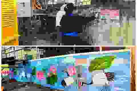 """Hà Tĩnh: Những """"họa sĩ không chuyên"""" tô đẹp cho phố phường"""