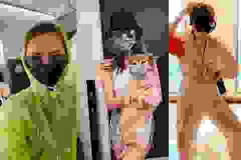 """Muôn kiểu chống dịch cực """"độc"""" của sao Việt, đeo khẩu trang cho cả cún cưng"""