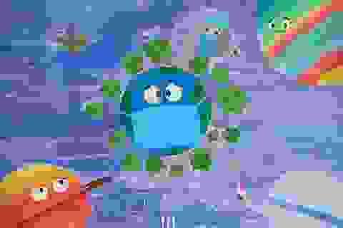 Học sinh trường chuyên vẽ tranh tuyên truyền phòng chống dịch Covid-19