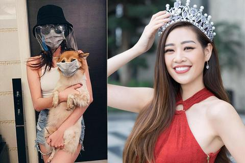 """Hoa hậu Khánh Vân hài hước với """"thời trang mùa dịch bệnh"""""""