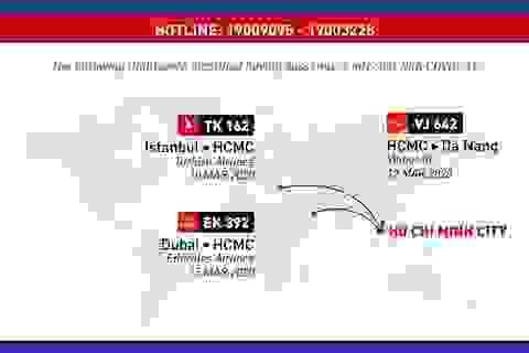 Thêm 3 chuyến bay xác định ca nhiễm Covid-19, Bộ Y tế ra thông báo khẩn
