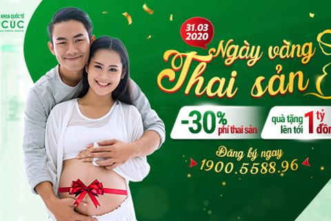 Bệnh viện ĐKQT Thu Cúc hỗ trợ 30% phí thai sản trọn gói trong Ngày vàng thai sản