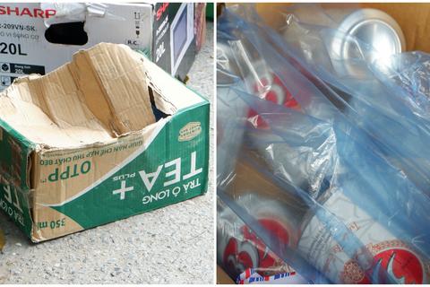Hà Nội: Phát hiện cả bia, lò vi sóng trong thùng tiếp tế vào khu cách ly