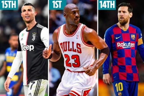 Những VĐV vĩ đại nhất mọi thời đại: Cầu thủ bóng đá bị bỏ xa