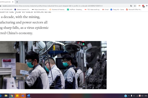 Các DN công nghiệp Trung Quốc thất thu cực điểm trong hơn một thập kỉ qua