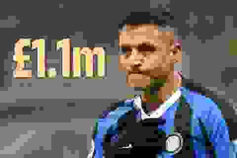 Không thi đấu, Sanchez vẫn ăn đủ tiền thưởng của Man Utd