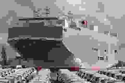 Tàu chở 2.000 ôtô nhập khẩu từ Thái Lan phải kiểm dịch Covid-19