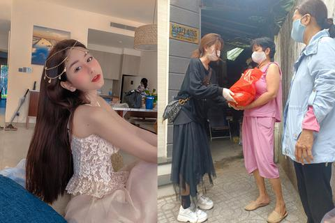 Hot girl Sài Gòn tặng 1,3 tấn gạo, tặng quà người nghèo mùa dịch Covid-19