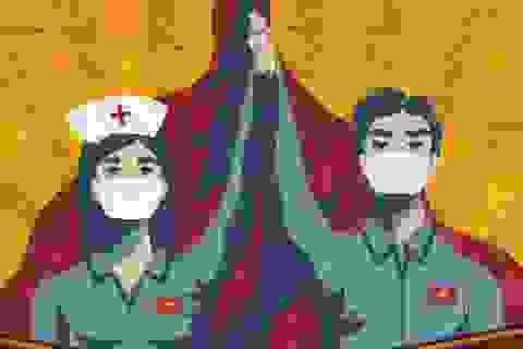 Báo Anh ấn tượng với tranh cổ động chống dịch Covid-19 của Việt Nam