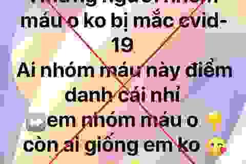 """Hà Nội: Phạt người tung tin """"nhóm máu O không mắc Covid-19"""""""