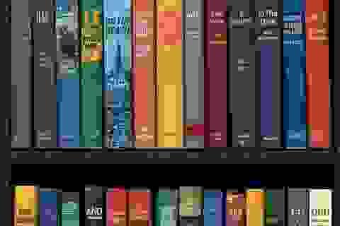 Bạn có phát hiện ra thông điệp ẩn giấu trong giá sách?