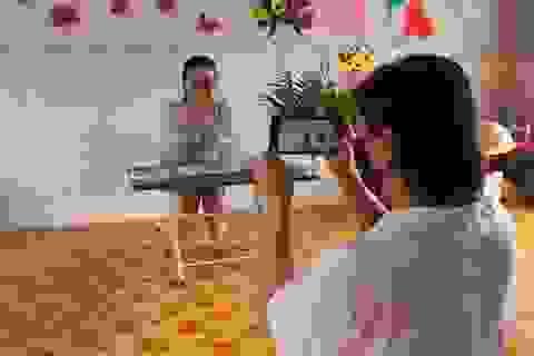 Covid-19: Giáo viên mầm non quay clip, hướng dẫn trẻ tự học tại nhà