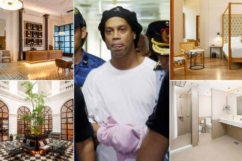 """Ronaldinho được chiều lòng chơi bóng khi bị """"giam lỏng"""""""