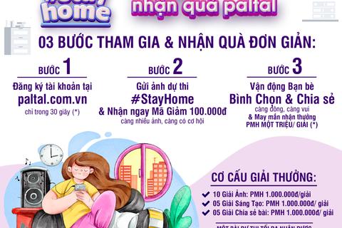 PALTAL #StayHome: Nhận ưu đãi tháng Tư, tặng khẩu trang kháng khuẩn, cơ hội PMH 1.000.000đ