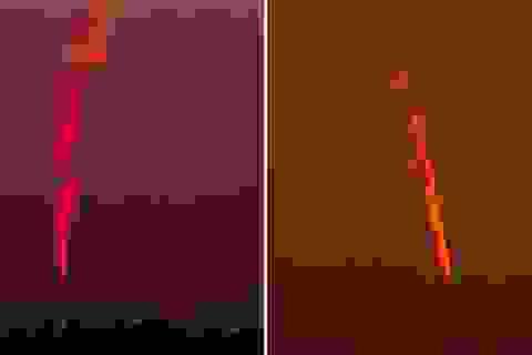 Vật thể lạ cháy trên nền trời Anh để lại đám khói suốt 20 phút