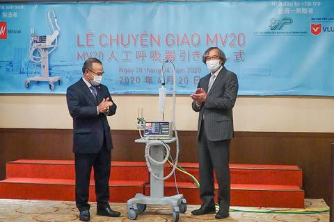 Tiếp nhận máy thở chống dịch Covid-19 từ Nhật Bản tài trợ