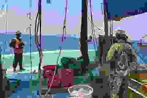 Nổ súng truy bắt tàu khai thác hải sản trái phép