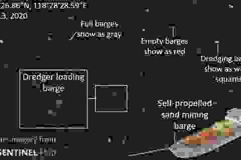 """Ảnh vệ tinh """"tố"""" hàng trăm tàu Trung Quốc ồ ạt nạo vét Biển Đông"""