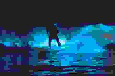 Những con sóng phát sáng ở bờ biển Nam California