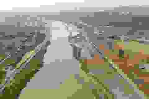 """Toàn cảnh tuyến kè """"khổng lồ"""" 620 tỷ chống sạt lở bờ sông Hồng"""