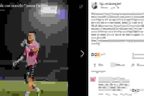 Giữa tin đồn tình cảm, tuyển thủ Quang Hải bất ngờ chia sẻ trên facebook