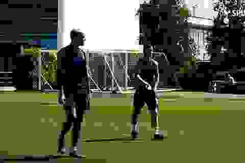Harry Kane và Son Heung Min hăng say tập luyện cùng đồng đội