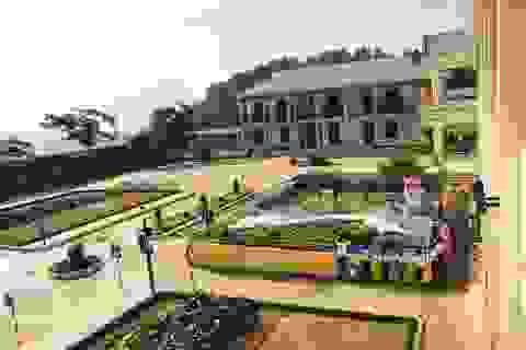 Xây mô hình trên sân trường để giáo dục giao thông và biển đảo cho học sinh