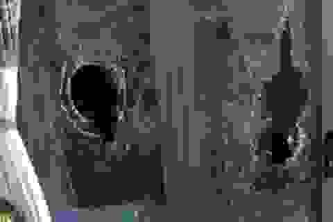 Bắt đối tượng ném đá xe khách, đập vỡ cửa kính nhà dân