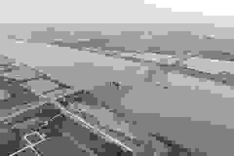 Toàn cảnh cây cầu nghìn tỷ nối đôi bờ sông Ninh Cơ trước ngày thông xe
