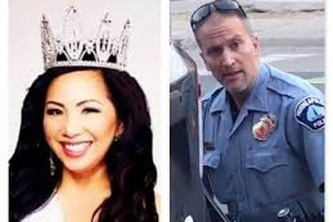 """Vợ cựu cảnh sát ghì cổ người da màu muốn ly hôn mà """"không cần một đồng"""""""