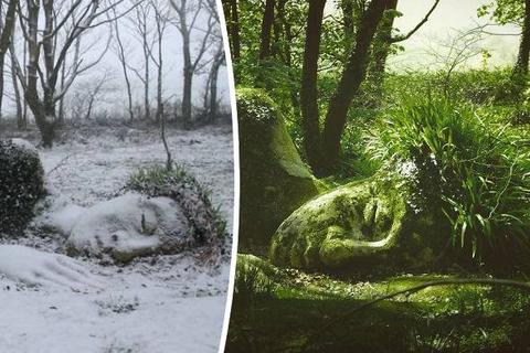 Vẻ đẹp của bức tượng quanh năm biến đổi theo mùa
