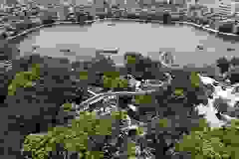 Toàn cảnh công viên nước giữa Thủ đô bị bỏ hoang suốt 13 năm