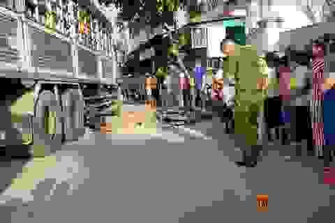 Ngã trước đầu xe tải, 2 người bị cán tử vong