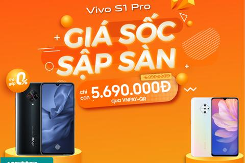 Vivo S1 Pro chính hãng giảm giá sâu, chỉ còn 5.690.000đ tại Viettel Store