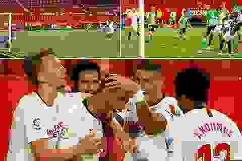 Sevilla thắng trận derby trong ngày La Liga trở lại