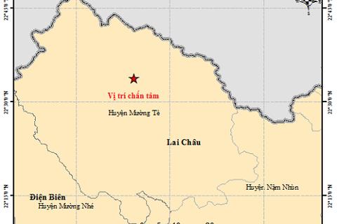 Xuất hiện động đất có độ lớn 4.9 tại Mường Tè – Lai Châu