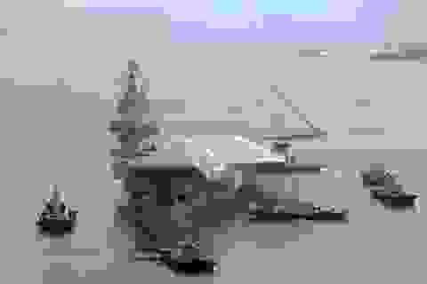 """Tàu sân bay đóng dở của Trung Quốc """"biến mất"""" bí ẩn"""